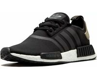 ADIDAS NMD R1 Boost Ultra Runner Casual Shoes Black White BA7251 Mens Size 10
