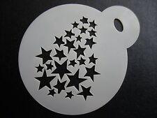 Corte láser pequeño desvanecimiento Estrellas Diseño Pastel, Cookie, Craft & Plantilla de Pintura de cara