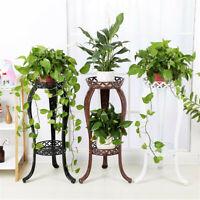 Retro Flower Stand Chic Indoor Garden Metal Plant Holder Display Planter