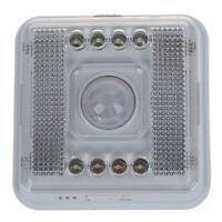 1X(8 LED Nachtlicht Lampe Bewegungsmelder Sensor Weissue20°  K8F1)