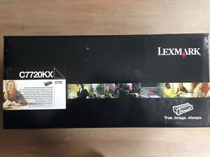 Neu Lexmark C7720KX Toner Black Schwarz C 772 Series