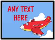 Red Plane Personalised Dinner Table Placemat