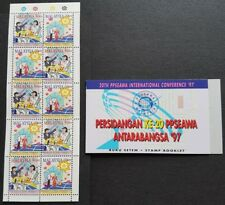 1997 Malaysia 20th PPSEAWA International Conference 10v Stamps Booklet Mint NH
