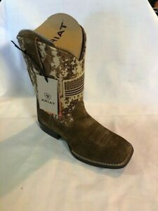 Ariat Youth Patriot Western Boots - Antique Mocha/Sand Camo size 13.5 Kids