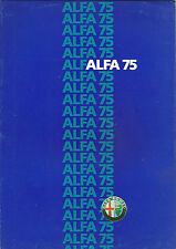 CATALOGUE PUBLICITAIRE ALFA ROMEO - ALFA 75