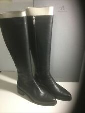 Aquatalia Gracelynn Tall Weatherproof  Black Boots 7 1/2 Medium