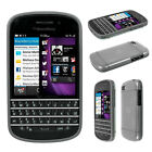 Poetic Atmosphere Transparent TPU Silicone Case Cover for Blackberry Q10 Gray