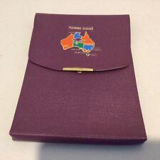 Vintage. Australia Touring Guides Purple Vinyl Wallet #453