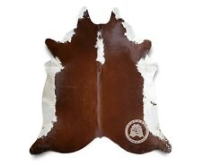 New Argentinian COWHIDE RUG Hereford Leather Cow Hide Cow Skin Cowskin