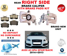 FOR AUDI A3 8PA SPORTBACK 2004->2013 REAR RIGHT SIDE BRAKE CALIPER WITH PADS SET