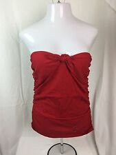 NWT RALPH LAUREN WOMEN RED SLEEVELESS TIE TUBE TOP SEXY SLIMMING STRAPLESS XL
