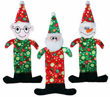 Dog Life Crazy Quilted Squeakers Christmas Dog Toy Three Characters