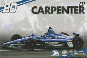2019 Ed Carpenter Preferred Freezer Services Chevy Indy 500 Indy Car postcard
