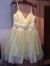LADIES VIP LIPSY DRESS STUNNING SIZE 14 new LIME GREEN JEWELLED WAIST