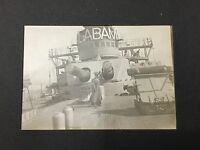 VINTAGE ORIGINAL PHOTOGRAPH OF THE ALABAMA BATTLE SHIP S.F. BAY 1906 MAUDE