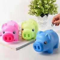 Pig Shaped Piggy Bank Money Coins Box Storage Saving Jar Birthday Gift Toys