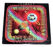 JOURNEY BAND SIGNED DEPARTURE VINYL ALBUM COVER x3 w/COA NEAL SCHON STEVE SMITH