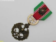 Steampunk badge brooch pin drape Medal military bird flying wreath crown swords