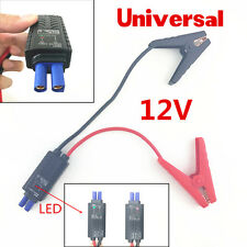 LED Lead Cable Battery Alligator Clamp Clip Emergency Indicator Car Jump Starter