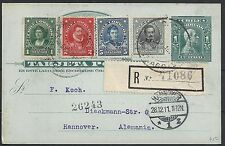 Chile 1911 uprated R-Pc to Hannover