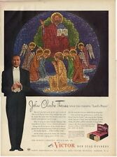 1945 Victor Records Print Ad John Charles Thomas Sings Lord's Prayer