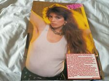 More details for fiona (flanagan) 1985 a3 size double page centrefold magazine poster / article