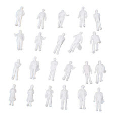 100pcs HO Scale 1:100 White Model People Unpainted Train Figures K8W9 R2R8 G4O7