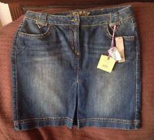 Denim A-line Short/Mini Regular Size Skirts for Women