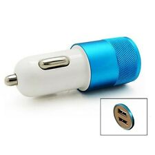2 IN 1 UNIVERSAL LED USB 12-24V DUAL CAR CHARGER CIGARETTE SOCKET LIGHTER BLUE