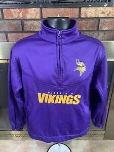 Minnesota Vikings NFL Football Quarter Zip Pullover Sweater Women's Size Small