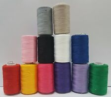 12 Vibrant Polyester Thread spools for JANOME BROTHER GUTTERMAN Sewing machine