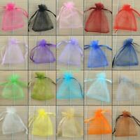 Gifts Bags Organza Pouch Sheer for Wedding Favors Jewelry Party Candy Beads 100x