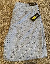 NEW Ralph Lauren RLX Mens Golf Shorts Patterned Light Blue Size 40 NWT
