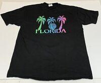 Vtg State Of Florida Tourist T Shirt Neon Palm Trees Mens XXL/ XL Single Stitch