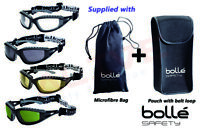 Bolle Safety Glasses TRACKER Spectacle Goggles Supplied with Bag & Pouch & Strap