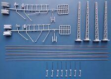 Hobbex OH104  H0 Oberleitung, 2 Quertragwerke mit Masten + Zubehör, DB/DR/ÖBB