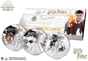 The Official Harry Potter Silver Proof Three Coin Set