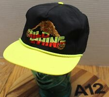"""NWOT """"WILD THING"""" SPIDER MONKEY HAT BLACK/YELLOW SNAPBACK EMBROIDERED COOL!! A12"""