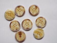 10 elegante gran beige marrón descubrí cuatro agujero botones de plástico 1042bm