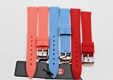NEW AUTHENTIC MICHELE 16MM SET OF 3 CORAL,RED,BLUE SILICONE WATCH BAND