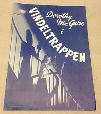 THE SPIRAL STAIRCASE DOROTHY MCGUIRE BARRYMORE DANISH VTG ORIGINAL MOVIE PROGRAM