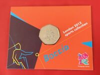 London 2012 Olympic BOCCIA 2011 50p Fifty Pence BU Coin In Official Sealed Card