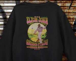 Elton John Country Pop Rock Classic Music Vintage Gift Gildan Black Sweatshirt