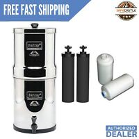 Berkey Imperial Water Filter System W/ 2 Black Filters and  2 PF-2 Fluoride