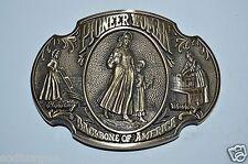 WOW Vintage Pioneer Women Backbone of America High End Linited Brass Belt Buckle