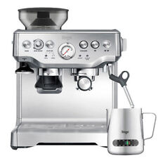 SAGE The Barista Express 1850W Espresso Coffee Machine with Integrated Burr Stainless Steel Grinder - Silver (BES875UK)