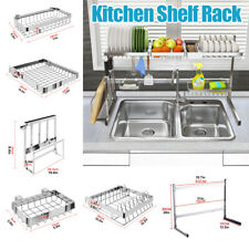 Over The Sink Dish Drying Rack Shelf Kitchen Storage Cooking Holder Stainle