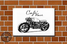 Cafe Racer Metal Sign, Motorcycle, Motorbike, Biker, Vintage, Advertising, 945
