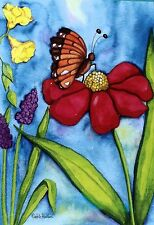 Butterfly Flowers Porch Full Size Flag