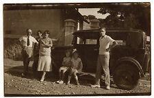 Famille voiture ancienne - photo ancienne amateur an. 1931